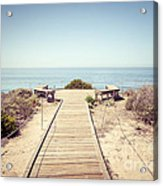 Crystal Cove Overlook Retro Picture Acrylic Print by Paul Velgos