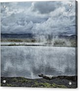 Crystal Crane Hot Springs Acrylic Print