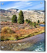 Crystal Creek In The Gros Ventre Acrylic Print