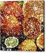 Crystal Grapefruit Acrylic Print