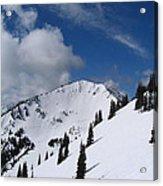 Crystal Mountain Bluest Sky Acrylic Print