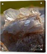 Crystal On Rock Acrylic Print