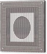 Crystal White And Gray Dots Design Pattern Shade Deco Decoration Acrylic Print