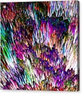 Crystalline Crimsonicity Acrylic Print