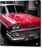 Cuban Vintage Red Acrylic Print