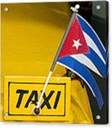 Cuba Taxi Acrylic Print