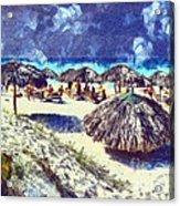 Cuban Beach Acrylic Print