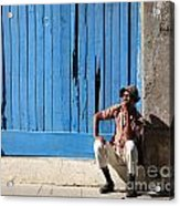 Cuban Man And His Cigar Acrylic Print