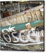 Cuban Refugees Boat 2 Acrylic Print