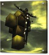 Cube Cross Acrylic Print