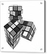 Cubed - Shades Of Grey Acrylic Print