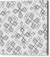 Cubicle Calligraphy Acrylic Print