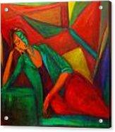 Cubism Contemplation  Acrylic Print