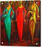 Cubism Dance II Acrylic Print