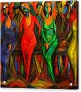 Cubism Dance  Acrylic Print