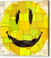 Cubism Smiley Face Acrylic Print