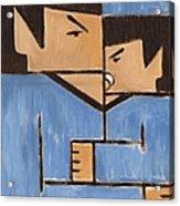Cubism Spock baby Spock Art Print Acrylic Print