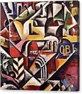 Cubist Cityscape, 1914 Acrylic Print