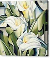 Cubist Lilies Acrylic Print