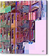 Colorful Old Buildings Of New York City - Pop-art Style Acrylic Print