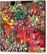 Tulips Of Many Colors - Nyc Markets Acrylic Print