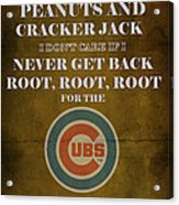 Cubs Peanuts And Cracker Jack  Acrylic Print