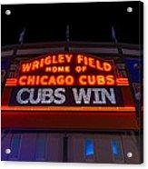 Cubs Win Acrylic Print
