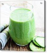 Cucumber Apple And Kale Smoothie Acrylic Print