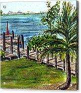 Cudjoe Dock Acrylic Print