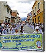Cuenca Kids 326 Acrylic Print by Al Bourassa