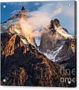 Cuernos Del Paine At Sunrise Acrylic Print
