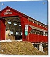 Culbertson Or Treacle Creek Covered Bridge Acrylic Print