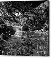 Cumberland Falls Black And White Acrylic Print