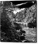 Cumberland Falls Seven Bw Acrylic Print