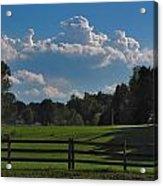 Cumulus Over Green Pastures Acrylic Print
