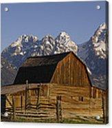 Cunningham Cabin Grand Tetons Wyoming Acrylic Print