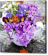 Cup Full Of Wildflowers Acrylic Print by Edward Fielding