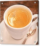 Espresso In White Acrylic Print