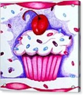 Cupcake And Ribbons Acrylic Print