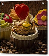 Cupcakes And Coffee Beans Acrylic Print