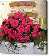 Cupcakes And Roses Acrylic Print by Terri Waters