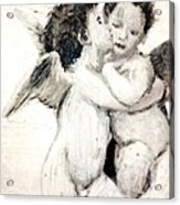 Cupid And Psyche By William Bouguereau Acrylic Print