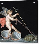 Cupid Being Led By Tortoises Acrylic Print