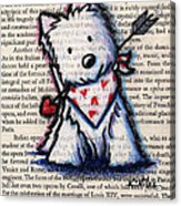Cupid Westie Acrylic Print by Kim Niles