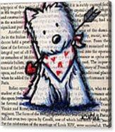 Cupid Westie Acrylic Print