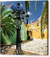 Curacao Colorful Architecture Acrylic Print by Amy Cicconi