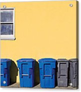 Curbside Trash Pick Up Acrylic Print