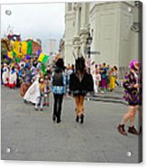 Curious Children On Mardi Gras Day Acrylic Print