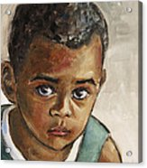 Curious Little Boy Acrylic Print