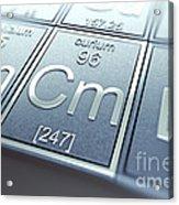 Curium Chemical Element Acrylic Print